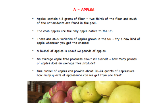 A is for Apple - Fun Food Fact