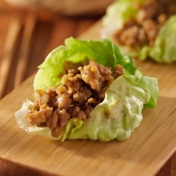 Cashew Chicken Lettuce Cups