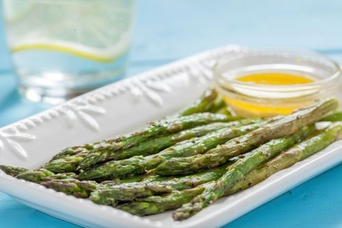 Roasted Asparagus With Ginger Sesame Dressing