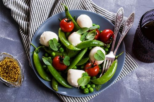 Snap Pea Salad With Buffalo Mozzarella