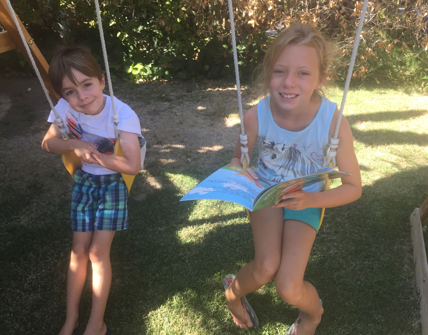 Children On Swings With Book 4 2017